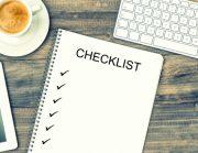 Checklist for building a website