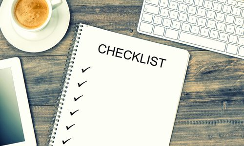 Checklist for building a website